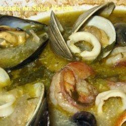 Mariscada En Salsa Verde  (Seafood Stew in Green Sauce)