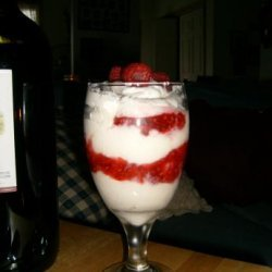 White Chocolate Mousse With Raspberry Compote