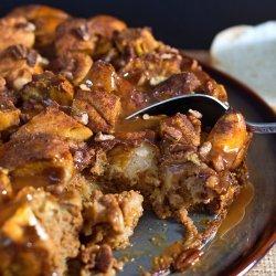 Pumpkin Bread Pudding With Caramel Sauce