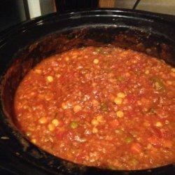 Ground Beef and Veggie Soup/Crock Pot