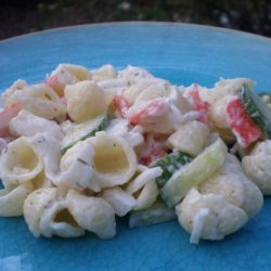 Cucumber Crab Pasta Salad