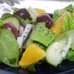 March Forth! Salad With Orange-Poppy Seed Vinaigrette