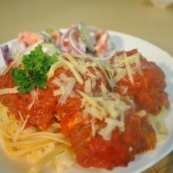 Cheesy Italian Meatballs recipe