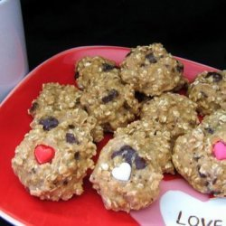 No-Fat Oatmeal Choco. Chip Cookies! With Style.