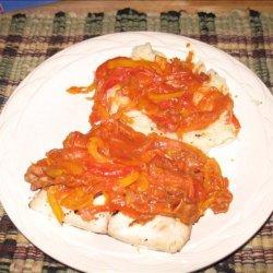 Sea Bass With Sicilian Pepper Sauce
