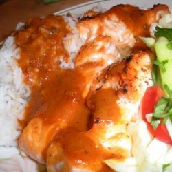 Grilled Fillet of Pacific Salmon With Thai Red Curry Sauce and B