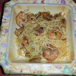 Capellini Al Gamberetti (Angel Hair Pasta With Shrimp) recipe