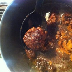 Venision (Or Beef) Meatballs With Gravy (Oamc)