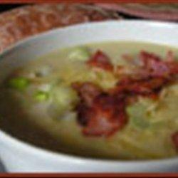 Baked Potato, Leek and Cheese Soup