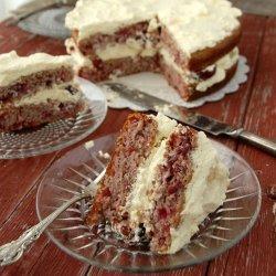 Sour Cream Cherry Cake