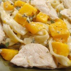 Chicken & Butternut Pasta With Creamy Sage Sauce