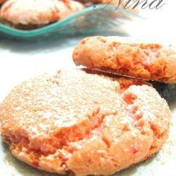 Strawberry Crinkle Cookies