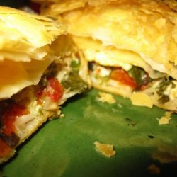 Fetta and Spinach Free Form Pie