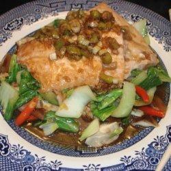 Salmon Bulgogi With Bok Choy and Mushrooms recipe