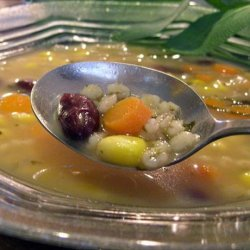 Barley Soup With Red Beans Corn and Sage recipe