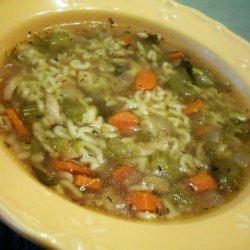 Alphabet Chicken Soup (Crock Pot)