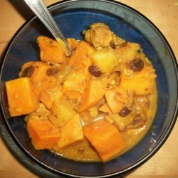 Sweet Curried Chicken, Yam and Apple Stew