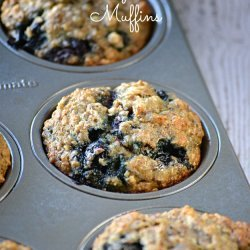 Light Banana-Blueberry Muffins