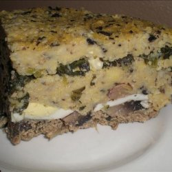 Chicken Spinach Polenta Layer Pie