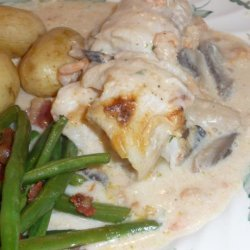 Poached Fish in Shrimp Sauce