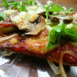 Linda's Zucchini-Crusted Pizza With Fresh Basil