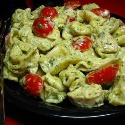 Pesto Chicken Tortollini Salad