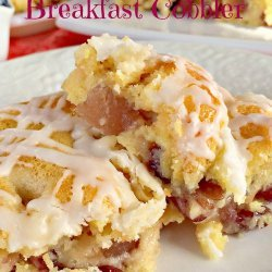 Cranberry and Apple Cobbler