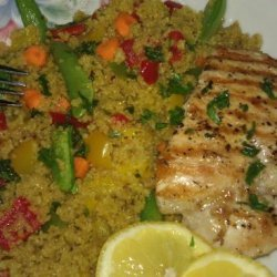 Grilled Lemon Chicken and Moroccan Couscous Salad