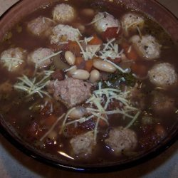 Minestrone With Chicken Meatballs