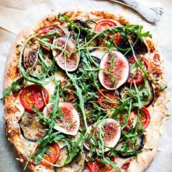 Roasted Eggplant and Tomato Pizza