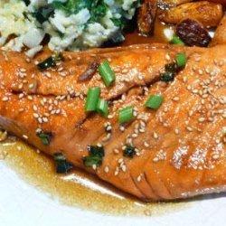 Pan Seared Salmon With Tare Sauce