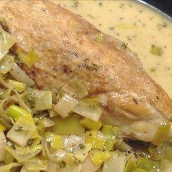 Chicken & Leeks With Creme Fraiche recipe