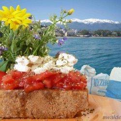Paximadia  bruschetta  - Cretan Barley Rusk Meze recipe