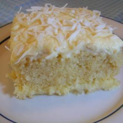 Moist Coconut Pudding Cake