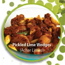 Pickled Lime Wedges (Achar Limau)