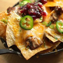 Leftover Turkey Thanksgiving Nachos recipe