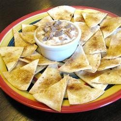 Tortilla Crisps with Brickle Dip recipe