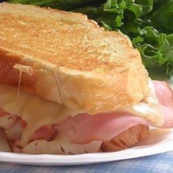 Chicken Cordon Bleu-ish Grilled Sandwich