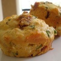 Basil, Feta, & Roasted Pepper Muffins