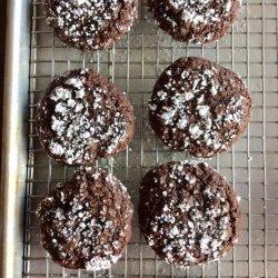 Chocolate  Crackle Brownie Cookies