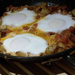 Baked Eggs With Bacon and Tomatoes