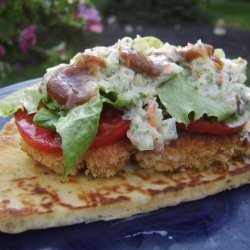 Chicken Naan-Wiches With Date and Yogurt Sauces
