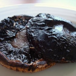 Pan Grilled Portobello Mushrooms With Herb  Infused Marinade