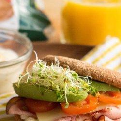 Egg and Ham Breakfast Sandwich