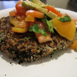 Chili Bean Cakes With Avocado Salsa