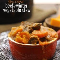 Slow Cooker Winter Vegetable Stew