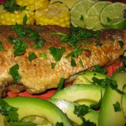 Fried Snapper With Avocado