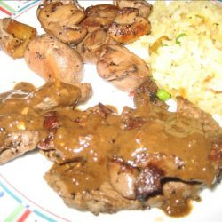 Antelope Medallions With Brown Sauce
