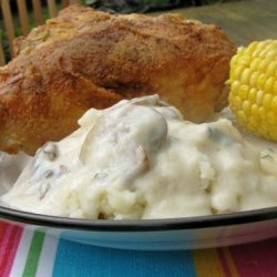 Oven Fried Chicken and Gravy