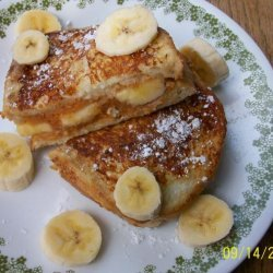 Peanut Butter and Cream Cheese Stuffed French Toast